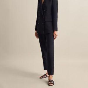 Massimo dutti slim black crepe pants, size 2 BNWT